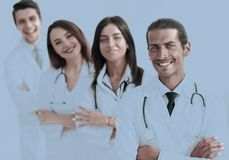 Team of doctors and nurses as colleagues in hospital Stock Photography