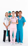 Team of doctors smiling at the camera Royalty Free Stock Photos