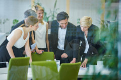 Team doing planning in office meeting Stock Image