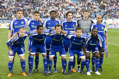 Team Dynamo (Kiev). Before playing with the team Shakhtar (Donetsk) for the UEFA Cup on 30 April 2009 in Kiev Stock Photography