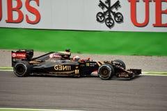 Team E23 Lotuss F1 gefahren von Romain Grosjean in Monza Lizenzfreies Stockfoto