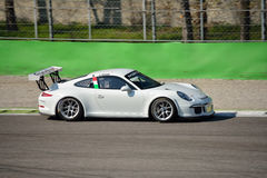 Team Ebimotors Porsche 911 GT3 Cup at Monza Royalty Free Stock Image