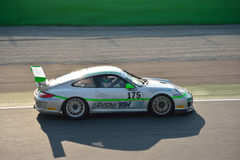 Team Ebimotors Porsche 911 (997) GT3 Cup at Monza Royalty Free Stock Photo