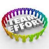 Team Effort People in den Kreis-verschiedenen Arbeitskräften Stockfotografie