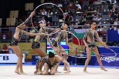 Team Egypt Rhythmic Gymnastics stock images