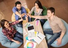 Team el trabajo imagen de archivo libre de regalías