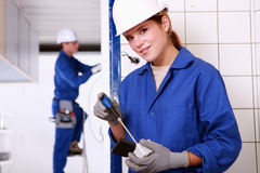 Team of electricians Royalty Free Stock Photography
