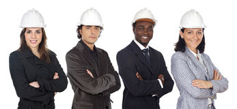 Team of engineers stock photos