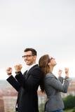Team entrepreneurs celebrating business success Stock Images