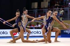 Team Estonia Rhythmic Gymnastics royalty free stock photo