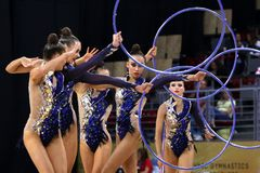 Team Estonia Rhythmic Gymnastics royalty free stock photography
