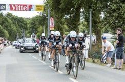 Team Etixx-Quick Step - Team Time Trial 2015 fotos de archivo