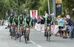 Team Europcar - Team Time Trial 2015 Lizenzfreies Stockfoto