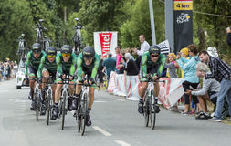 Team Europcar - Team Time Trial 2015 Royaltyfri Foto