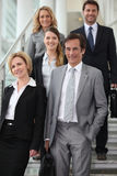 Team of executives. Team of dynamic business executives outdoors stock photos