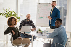 Team of executives in the meeting at office royalty free stock photos