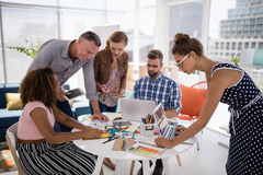 Team of executives working together in the office Royalty Free Stock Photo