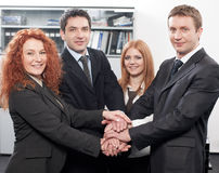 Team  express team spirit in office Royalty Free Stock Photos