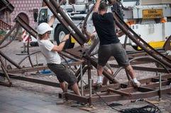 Team Extreme Workers Ride una atracción en la ciudad Imágenes de archivo libres de regalías