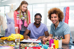 Team of fashion designers sketching Royalty Free Stock Photography