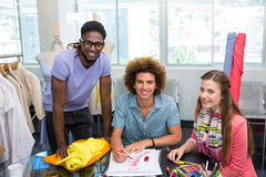 Team of fashion designers sketching Stock Photography
