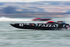 Team FAZZA participant à 5 ronds de championnats en mer de Superboat Image libre de droits