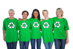 Team of female environmental activists Royalty Free Stock Images