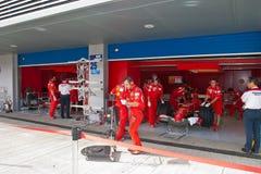 Team Ferrari F1, Engineers Royalty Free Stock Photography