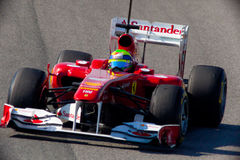 Team Ferrari F1, Felipe Massa, 2011 Royalty-vrije Stock Afbeelding