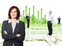 Team financial people Stock Photo