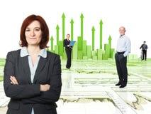 Team Finanzleute Stockfoto