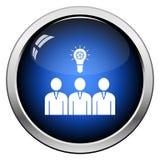 Team Finding New Idea Icon corporativo stock de ilustración