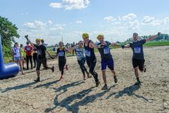 Team finishes in cross-country race.Tyumen Stock Photography