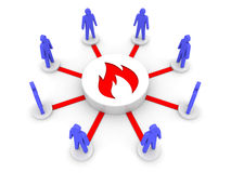 Team fire. Group inspiration. Stock Image