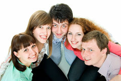 Team of five Royalty Free Stock Image