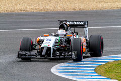 Team Force India F1, Daniel Juncadella, 2014 Stockbilder