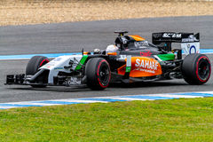 Team Force India F1, Daniel Juncadella, 2014 Lizenzfreies Stockfoto