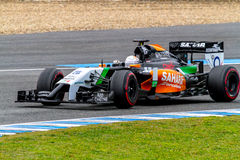 Team Force India F1, Daniel Juncadella, 2014 Lizenzfreie Stockfotos
