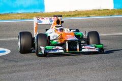 Team Force India F1, Nico Hülkenberg, 2012 Royalty Free Stock Photography