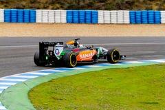 Team Force India F1, Daniel Juncadella, 2014 Stock Photos