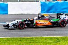 Team Force India F1, Daniel Juncadella, 2014 Royalty Free Stock Photos