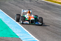 Team Force India F1, Jules Bianchi, 2013 Stock Image