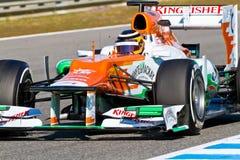 Team Force India F1, Nico Hülkenberg, 2012 Royalty Free Stock Photos