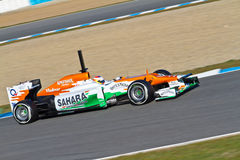 Team Force India F1, Paul Di Resta, 2012 Royalty Free Stock Photography