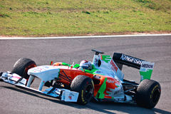 Team ForceIndia F1, Adrian Sutil, 2011 Imagenes de archivo