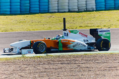 Team ForceIndia F1, Adrian Sutil, 2011 Stockbilder