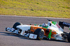 Team ForceIndia F1, Adrian Sutil, 2011 Lizenzfreie Stockfotografie