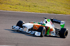 Team ForceIndia F1, Adrian Sutil, 2011 Foto de archivo