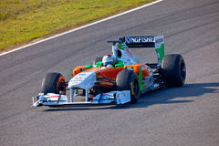 Team ForceIndia F1, Adrian Sutil, 2011 Lizenzfreie Stockbilder