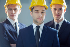 Team of foremen Stock Images